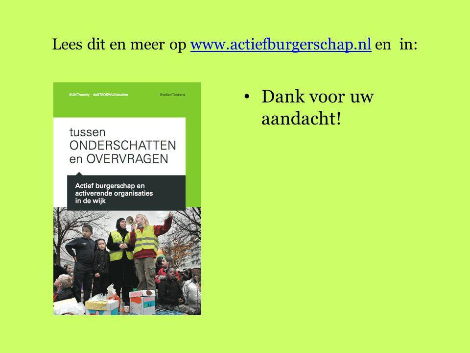 Lees dit en meer op www.actiefburgerschap.nl en in: