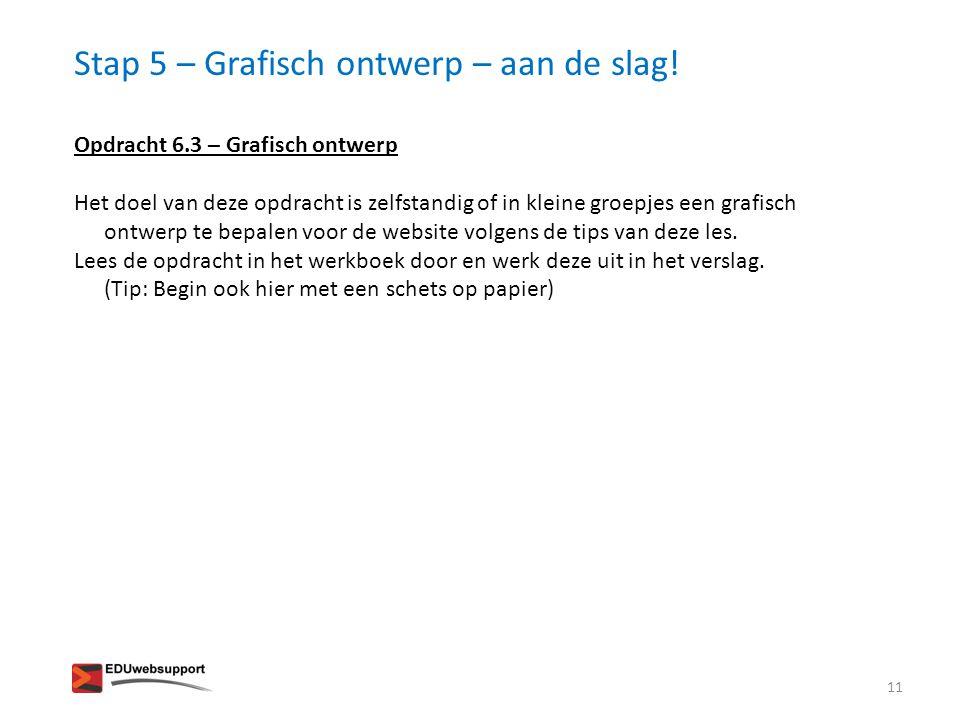 Stap 5 – Grafisch ontwerp – aan de slag!