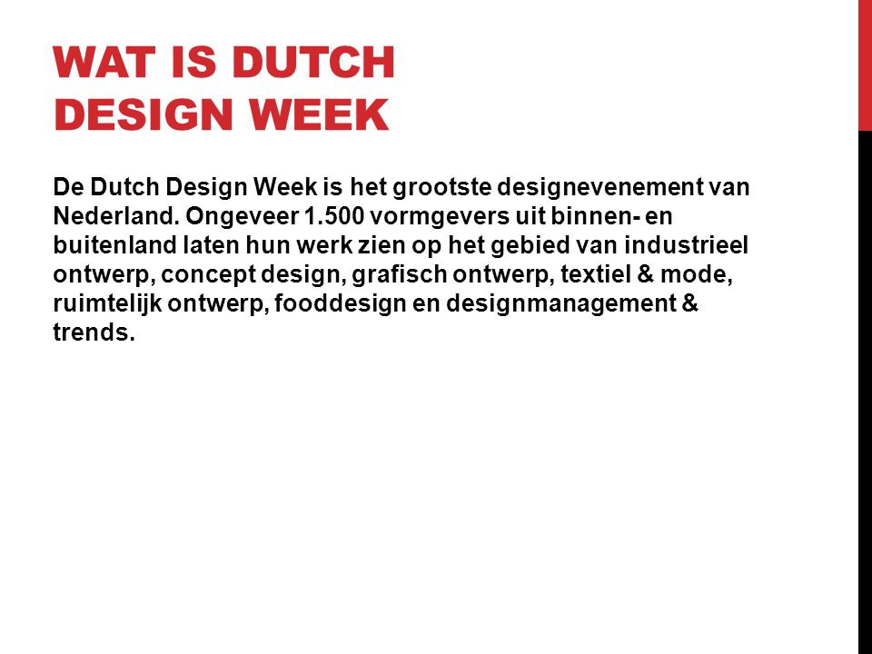 Wat is Dutch design week