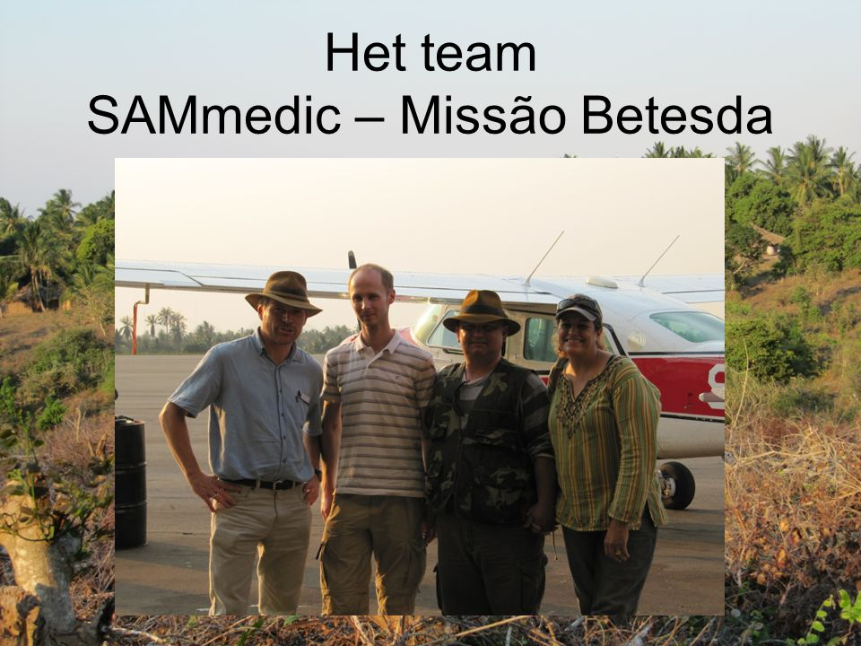 Het team SAMmedic – Missão Betesda