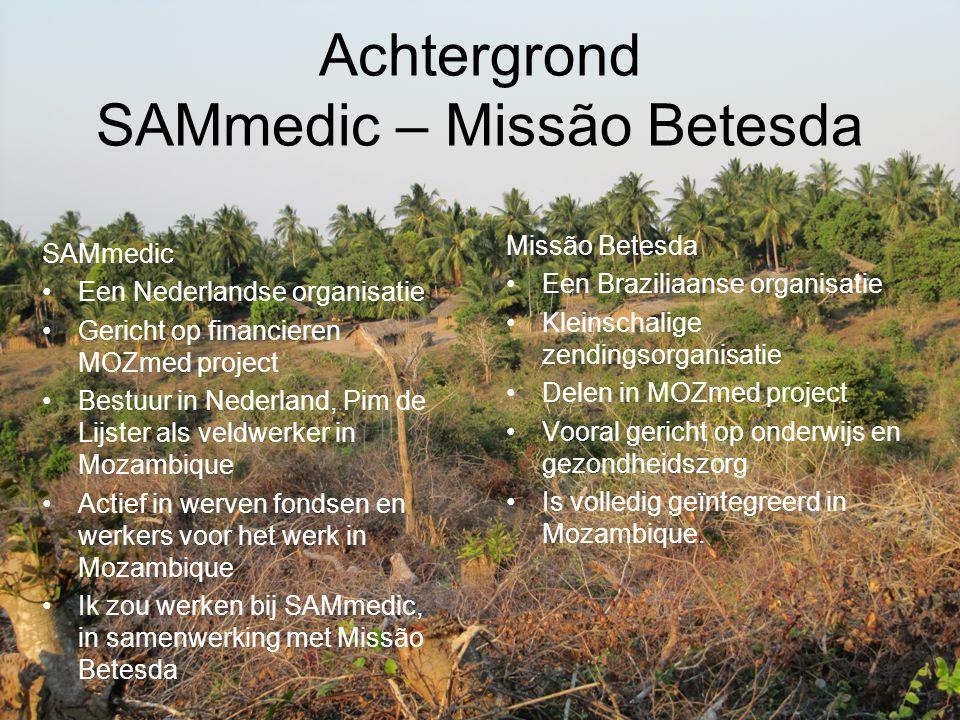 Achtergrond SAMmedic – Missão Betesda
