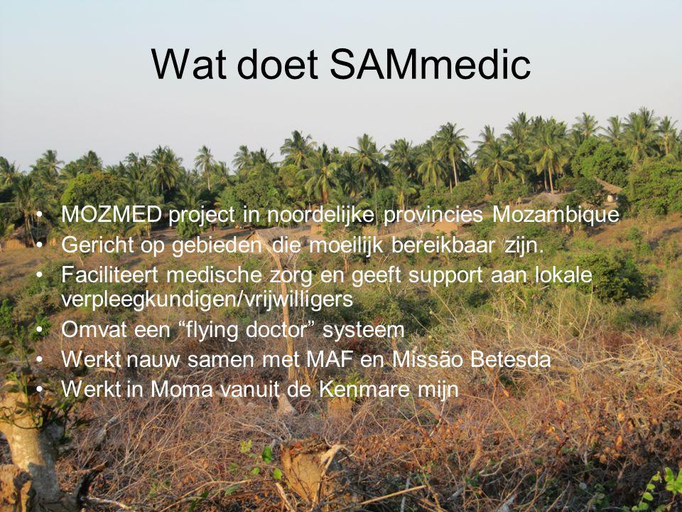 Wat doet SAMmedic MOZMED project in noordelijke provincies Mozambique