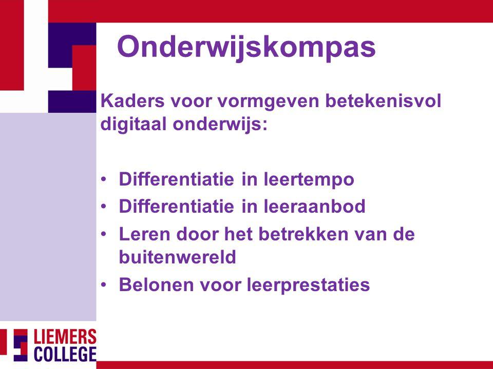 Onderwijskompas Kaders voor vormgeven betekenisvol digitaal onderwijs: