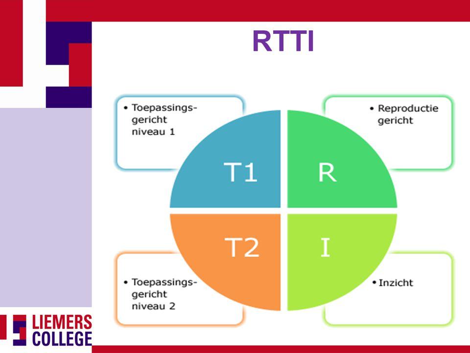 RTTI RTTI® is een middel om scherp en transparant de vier cognitieve niveaus van leren in kaart te brengen.