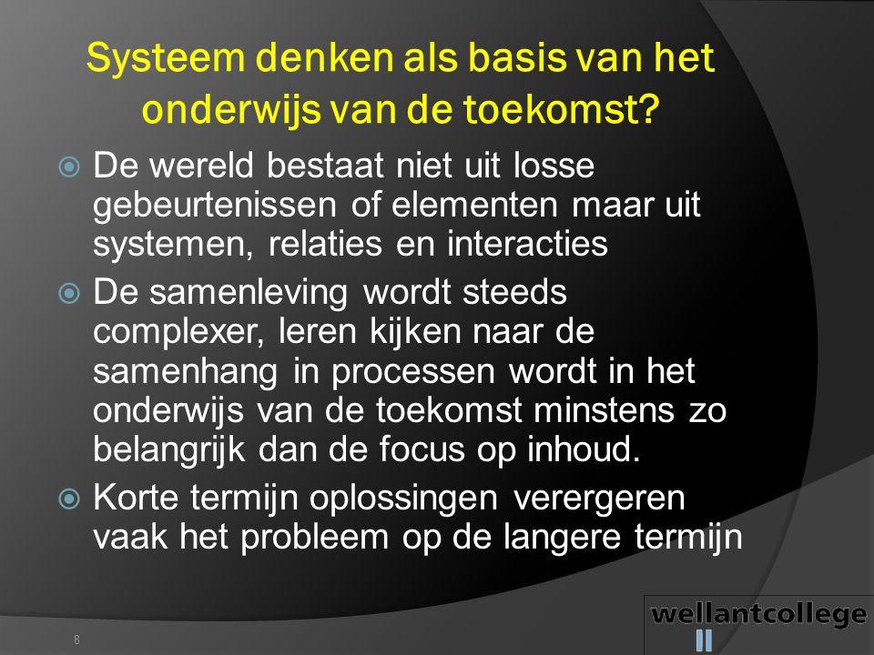 Systeem denken als basis van het onderwijs van de toekomst
