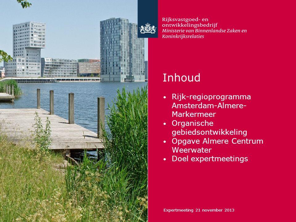 Inhoud Rijk-regioprogramma Amsterdam-Almere-Markermeer