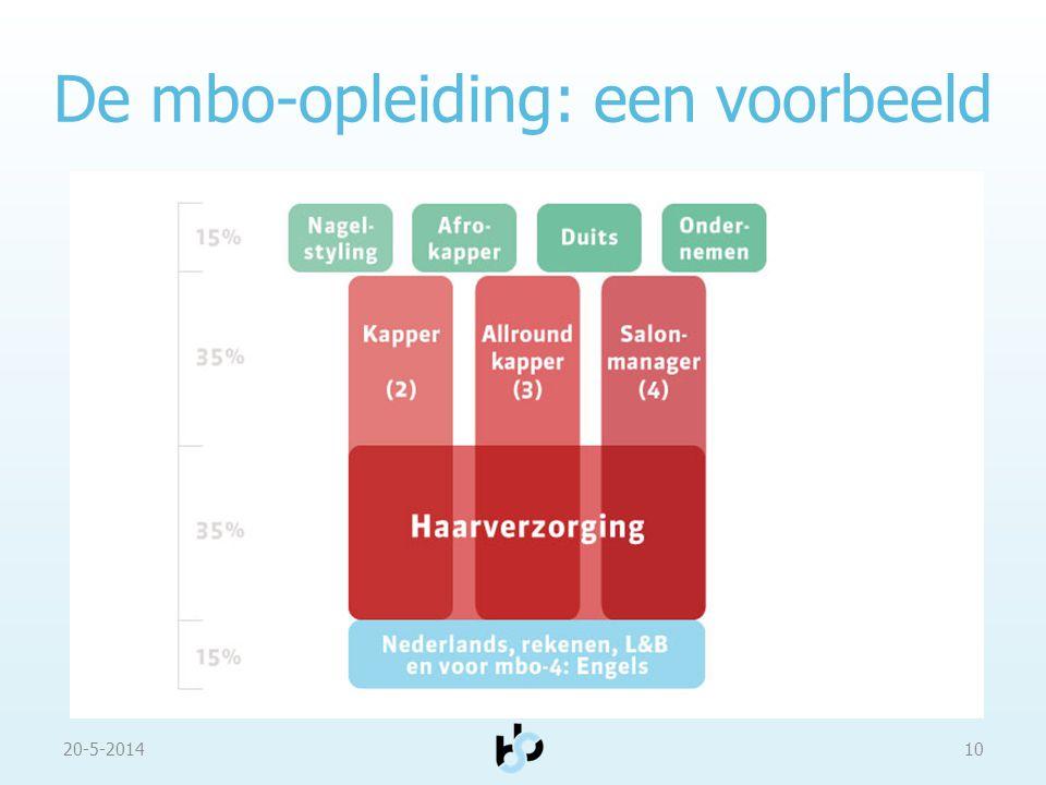 De mbo-opleiding: een voorbeeld