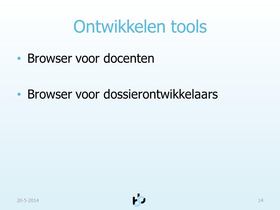 Ontwikkelen tools Browser voor docenten