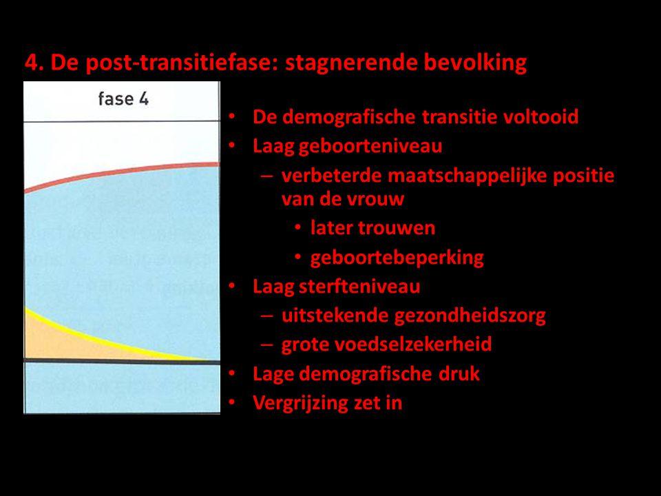 4. De post-transitiefase: stagnerende bevolking