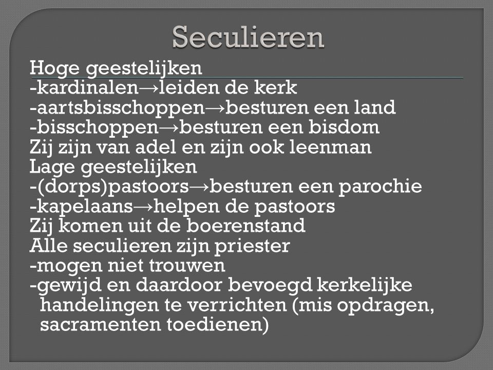 Seculieren