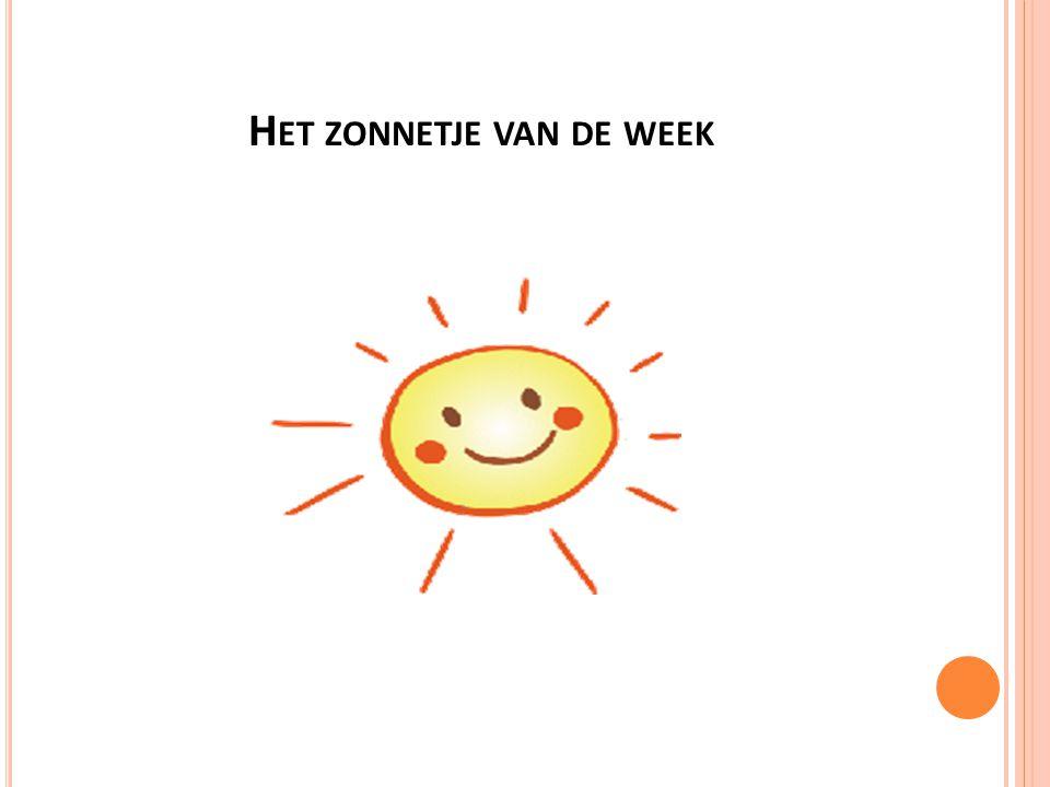 Het zonnetje van de week