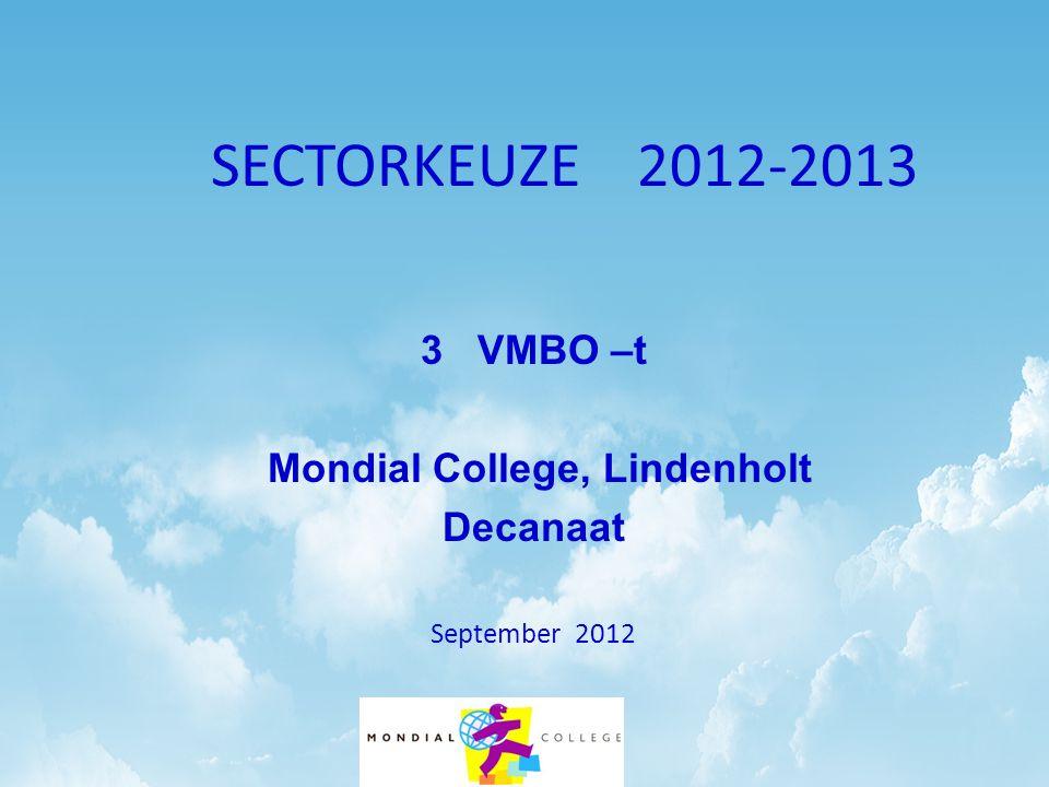 SECTORKEUZE VMBO-tSECTORKEUZE VMBO-t