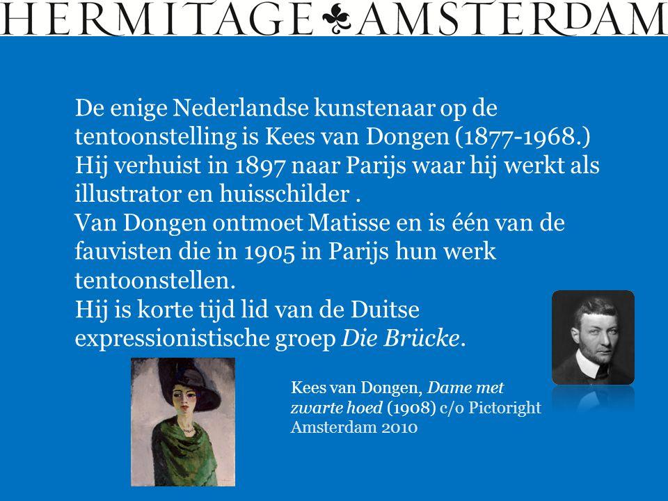 De enige Nederlandse kunstenaar op de tentoonstelling is Kees van Dongen (1877-1968.)