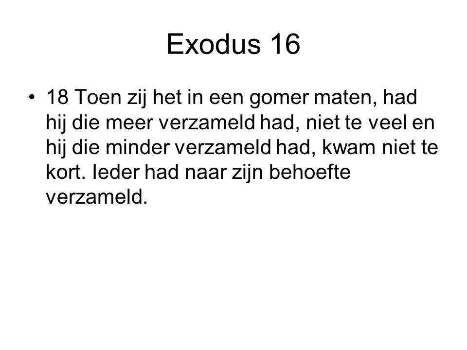 Exodus 16