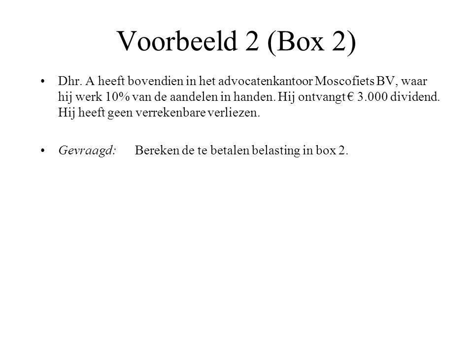 Voorbeeld 2 (Box 2)