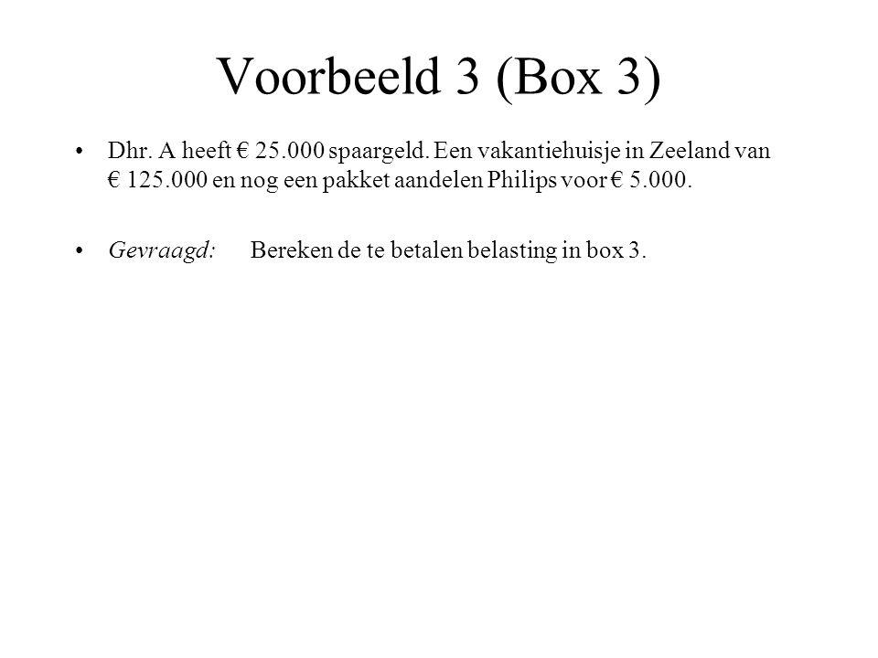 Voorbeeld 3 (Box 3)
