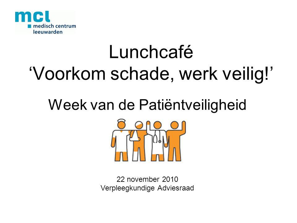 Lunchcafé 'Voorkom schade, werk veilig!'