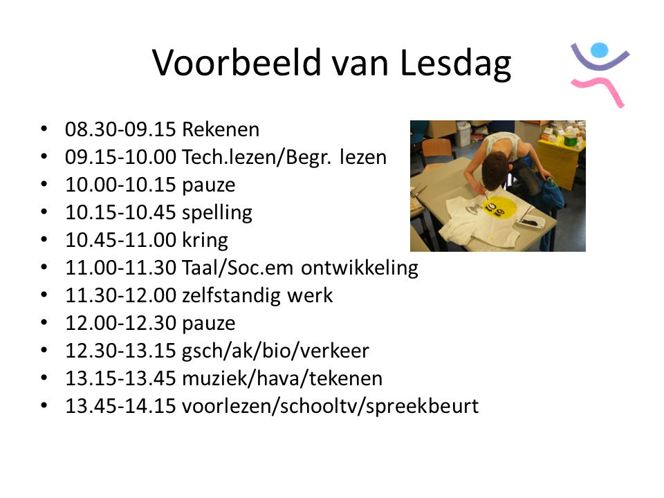 Voorbeeld van Lesdag 08.30-09.15 Rekenen