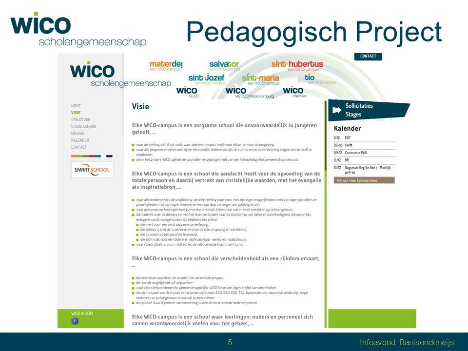 Pedagogisch Project 5 Infoavond Basisonderwijs