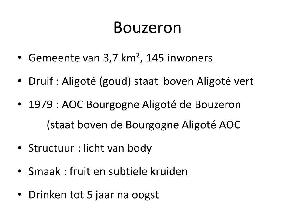 Bouzeron Gemeente van 3,7 km², 145 inwoners