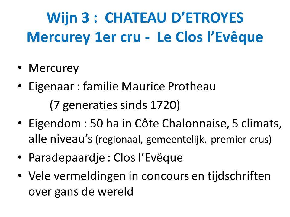 Wijn 3 : CHATEAU D'ETROYES Mercurey 1er cru - Le Clos l'Evêque