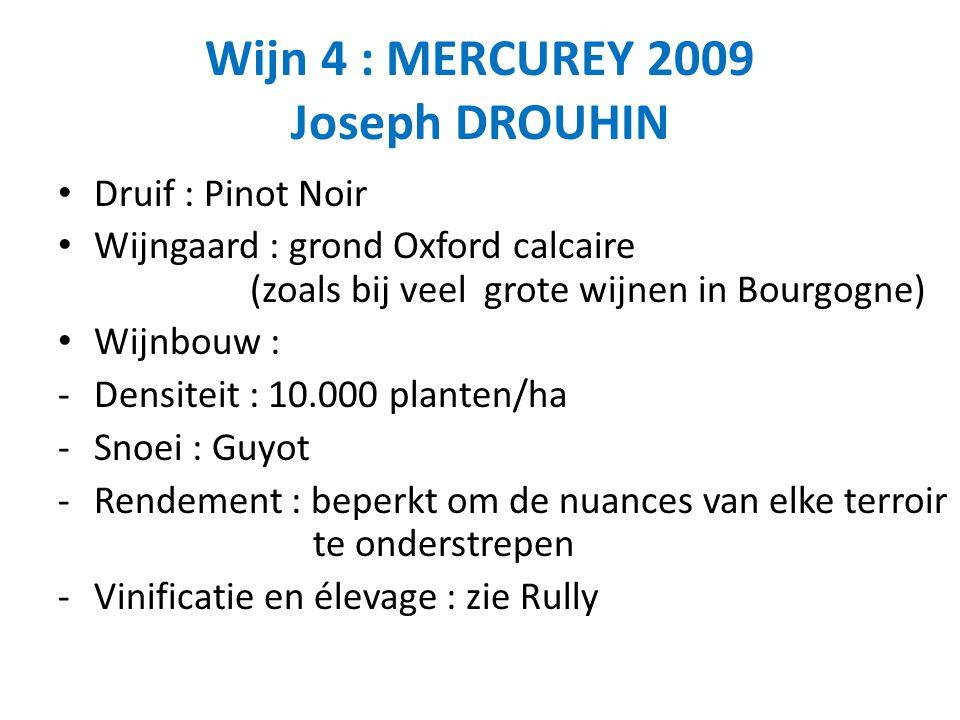 Wijn 4 : MERCUREY 2009 Joseph DROUHIN