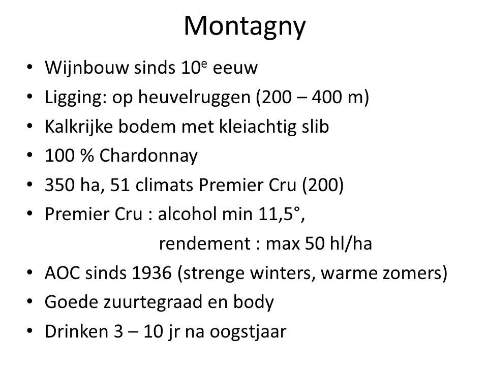 Montagny Wijnbouw sinds 10e eeuw