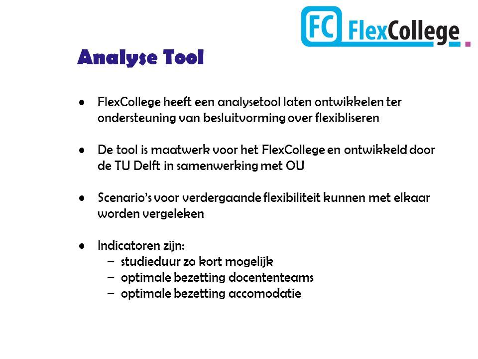 Analyse Tool FlexCollege heeft een analysetool laten ontwikkelen ter ondersteuning van besluitvorming over flexibliseren.
