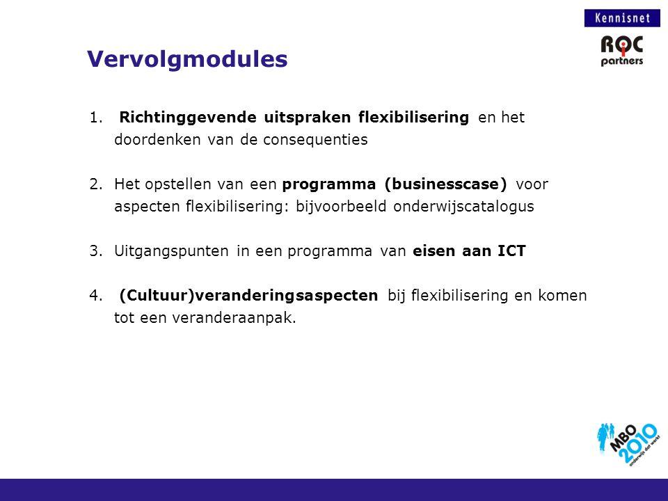 Vervolgmodules Richtinggevende uitspraken flexibilisering en het doordenken van de consequenties.