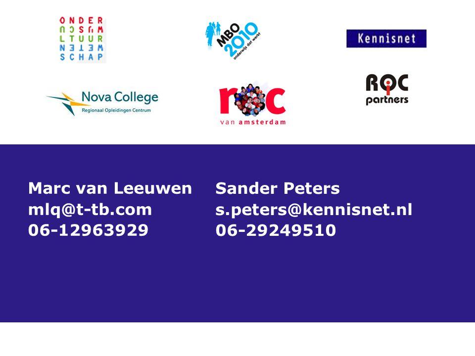 Marc van Leeuwen mlq@t-tb.com 06-12963929