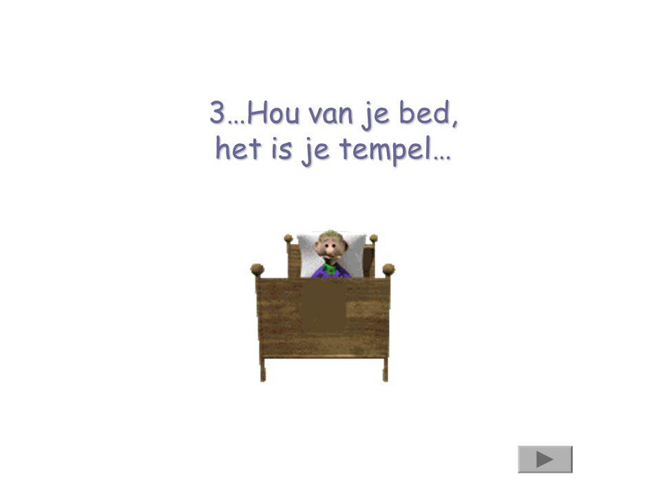 3…Hou van je bed, het is je tempel…