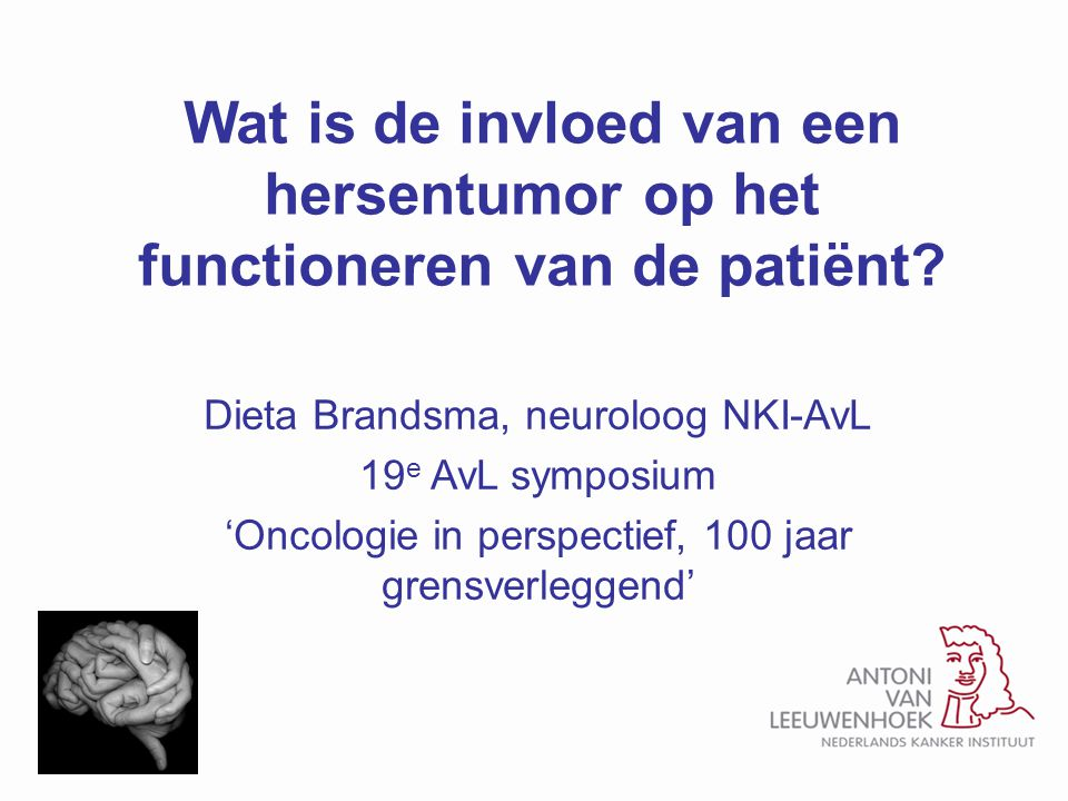 Wat is de invloed van een hersentumor op het functioneren van de patiënt