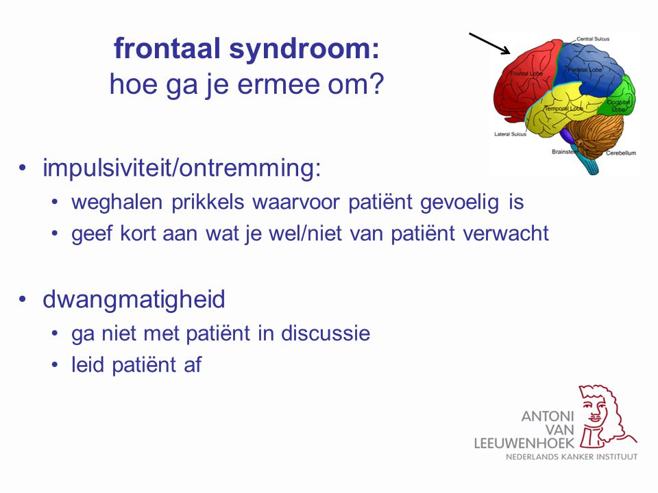 frontaal syndroom: hoe ga je ermee om