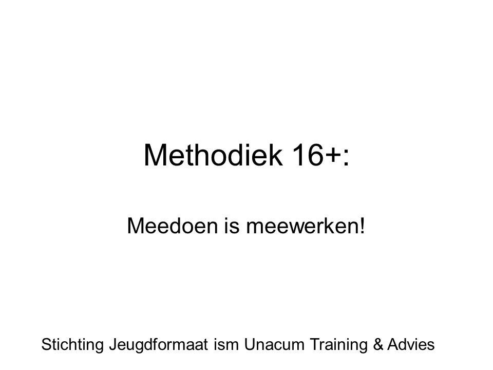 Methodiek 16+: Meedoen is meewerken!