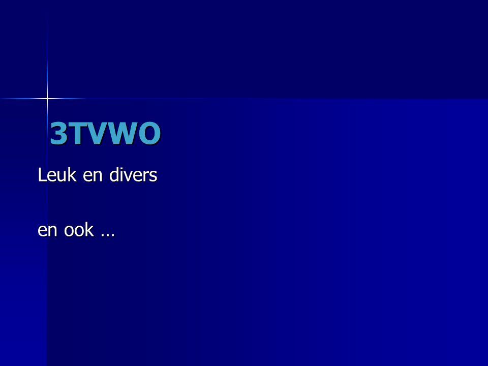3TVWO Leuk en divers en ook …