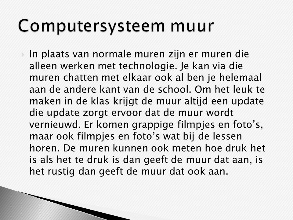 Computersysteem muur