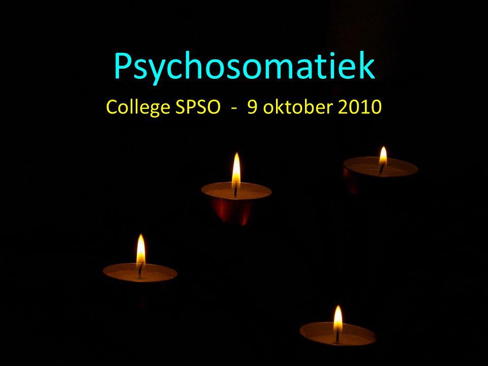 Psychosomatiek College SPSO - 9 oktober 2010