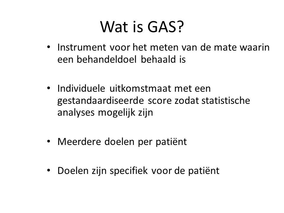 Wat is GAS Instrument voor het meten van de mate waarin een behandeldoel behaald is.
