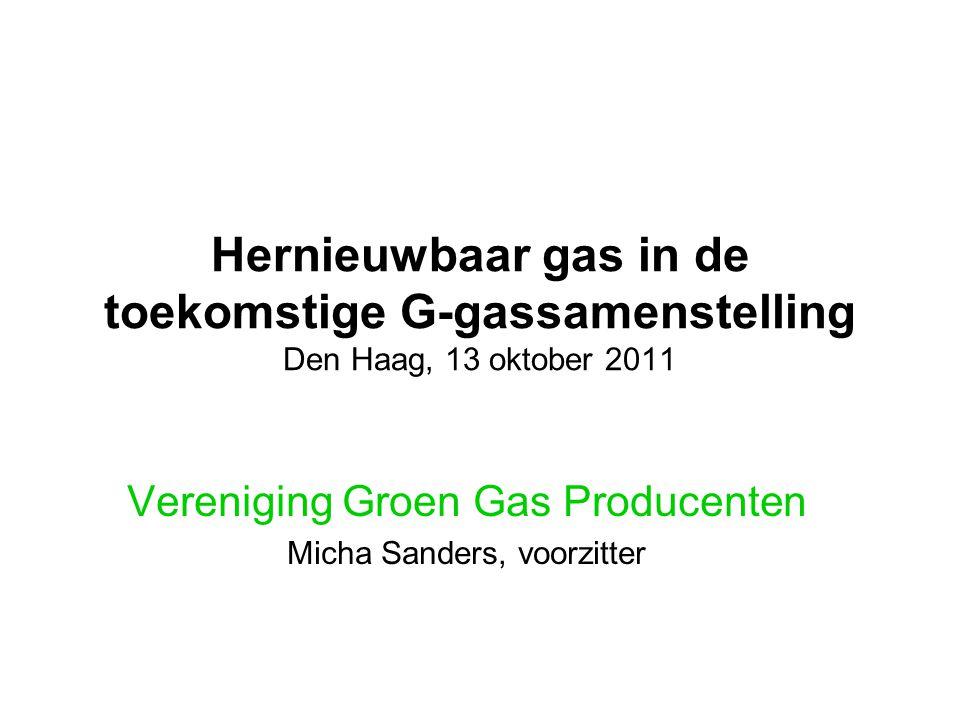 Vereniging Groen Gas Producenten Micha Sanders, voorzitter