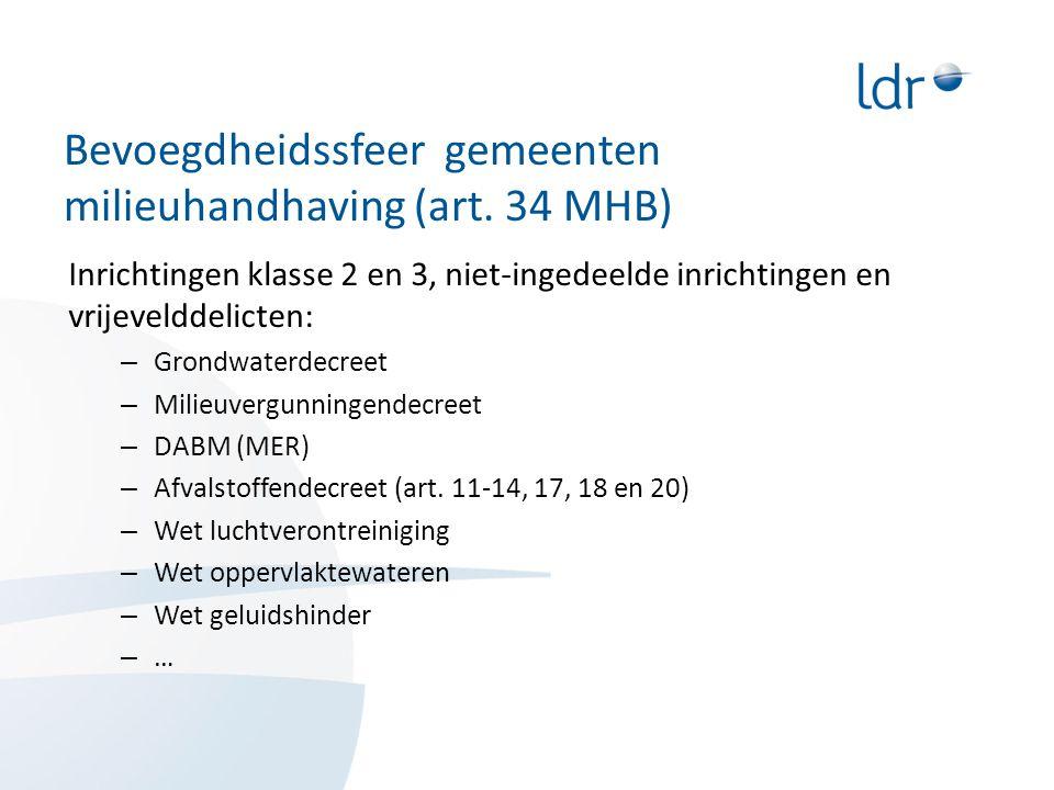 Bevoegdheidssfeer gemeenten milieuhandhaving (art. 34 MHB)