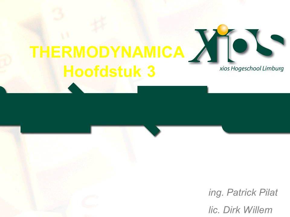 THERMODYNAMICA Hoofdstuk 3