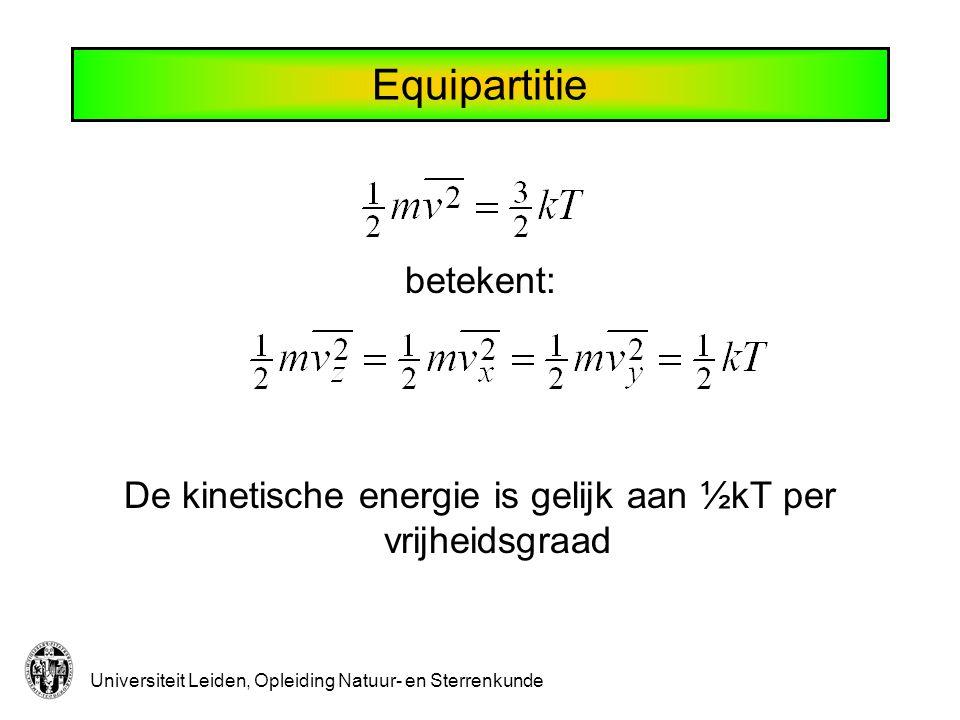Verdund gas Eigen volume van gas is te verwaarlozen (p<1 bar)