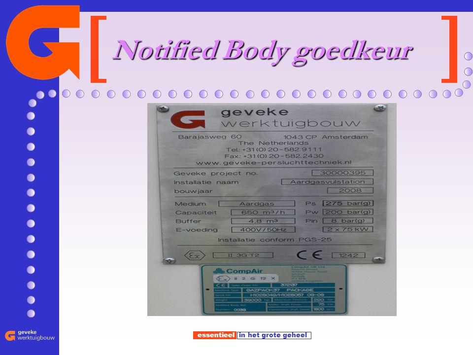 Notified Body goedkeur