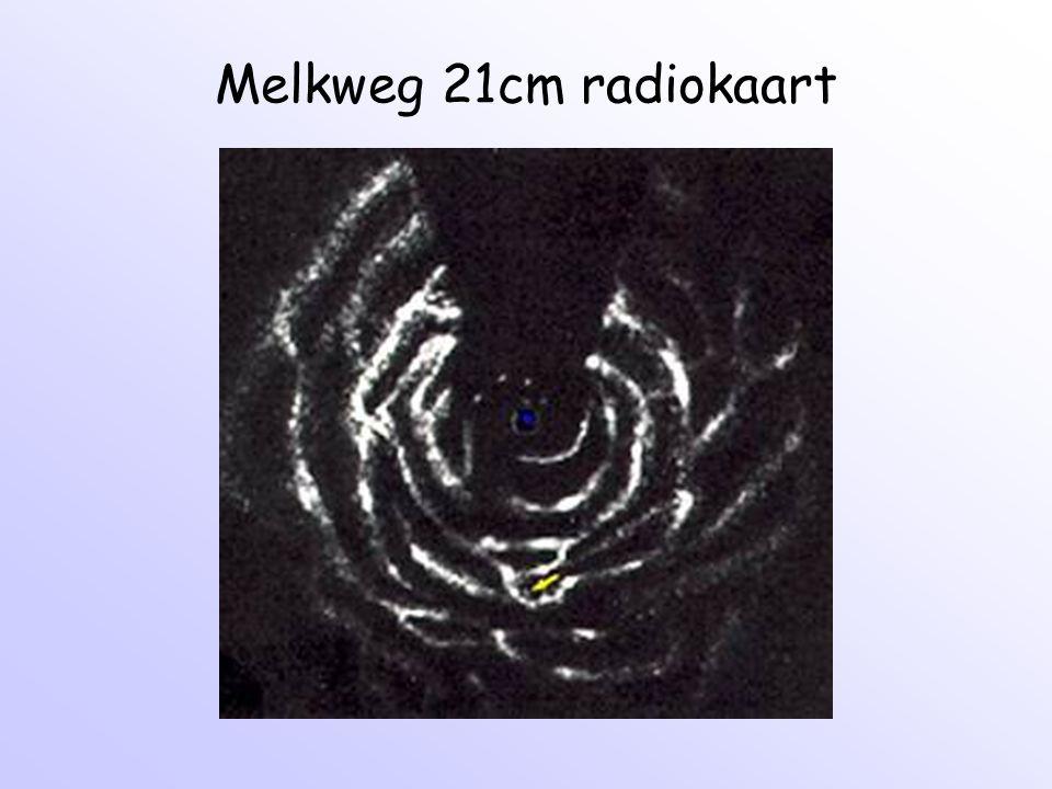 Melkweg 21cm radiokaart