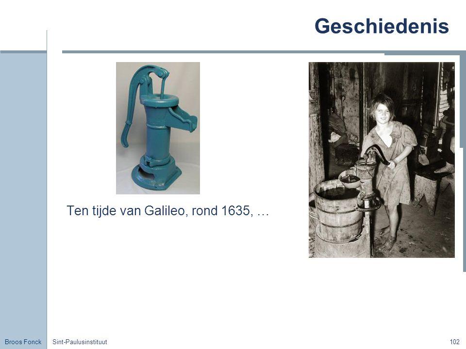 Geschiedenis Ten tijde van Galileo, rond 1635, …