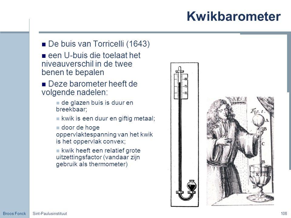 Kwikbarometer De buis van Torricelli (1643)