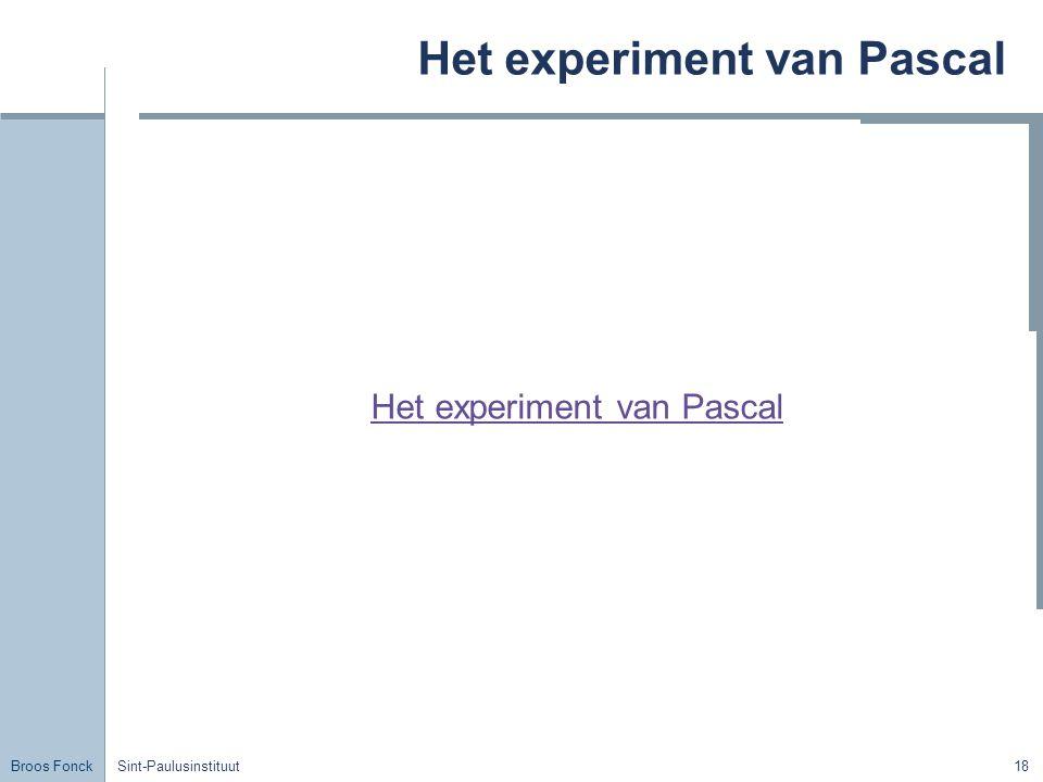 Het experiment van Pascal
