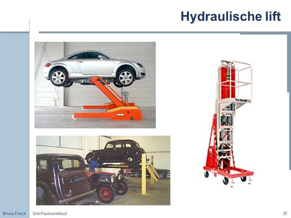 Hydraulische lift Title Sint-Paulusinstituut