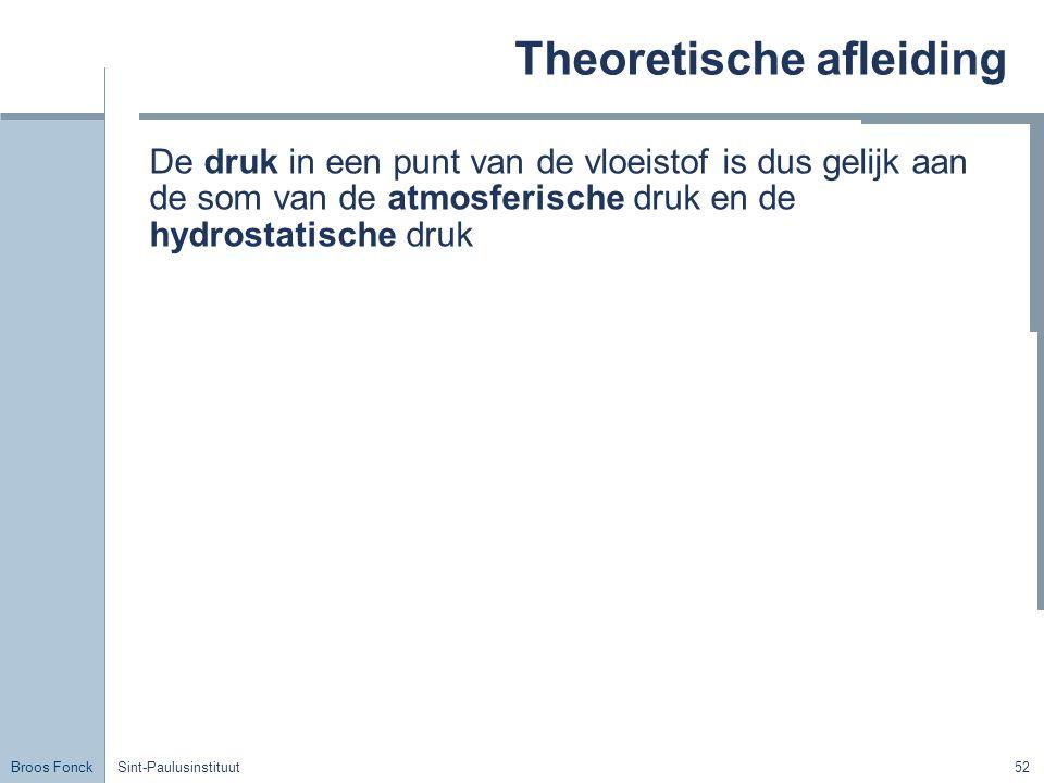 Theoretische afleiding