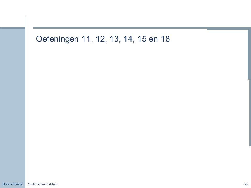 Oefeningen 11, 12, 13, 14, 15 en 18 Title Sint-Paulusinstituut